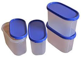 Tupperware Modular Mates Oval Plastic Container <b>Set</b>, 1.1 litres, <b>4</b> ...