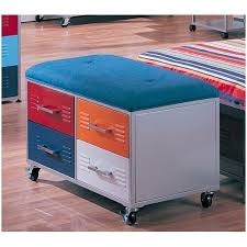 Multicolor Metal <b>Storage Bench</b> - <b>Black</b> Friday & Cyber Monday