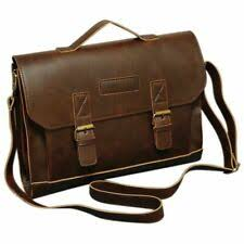 <b>Leather Men's</b> Work <b>Laptop Bag</b> for sale | eBay