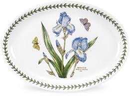 """Блюдо овальное Portmeirion """"Ботанический сад.<b>Ирис</b>"""" 28см ..."""