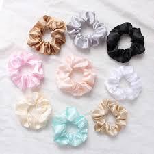 2019 <b>New</b> Women Lovely <b>Silky Satin</b> Hair Scrunchies Hairbands ...