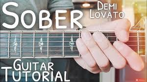 Sober Demi Lovato Guitar Tutorial // Sober Guitar // Guitar Lesson ...