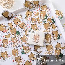 <b>45 Pcs</b> Chibi Fox <b>Cute Animal</b> Sticker <b>Pack</b> (LC2105) | Shopee ...