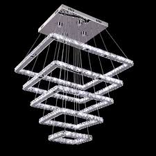square crystal led ceiling light fixture 5 squares crystal stair lighting for el hallway banner5 stair lighting
