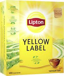 <b>Lipton</b> Yellow Label <b>Черный чай</b> в пакетиках, 100 шт — купить в ...