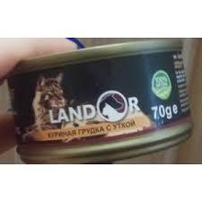 Корм для кошек <b>LANDOR Куриная</b> грудка с уткой - «Идеальное ...