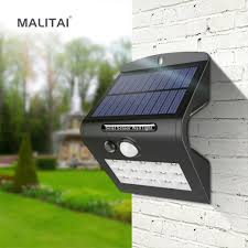 Easy to Replace Battery 18650 <b>Solar LED</b> Outdoor <b>Wall light</b> ...