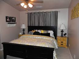 yellow and gray bedroom: bedroomromantic yellow and grey bedroom with white floral pattern master with beautiful yellow gray