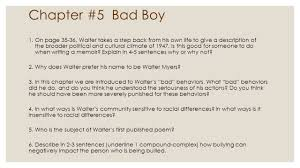 unit bad boy by walter dean myers chapters and  33 chapter 5 bad boy