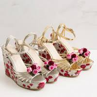 Wholesale <b>Gladiator Wedge Sandals Flower</b> in Bulk from the Best ...