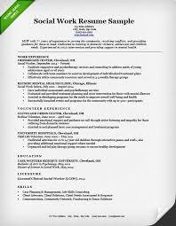 sample social work resume social worker resume template