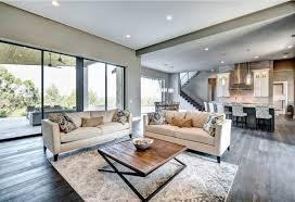 living room design glass
