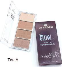 <b>Палетка хайлайтеров Essence</b> Glow 4 Color Highlighter Palette с ...