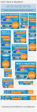 vacation banner ad advertising company banner and affiliate vacation web banner ad template psd buy and graphicriver