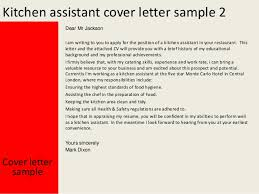 kitchen assistant cover letteryours sincerely mark dixon    kitchen assistant