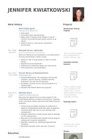 Real Estate Agent Resume Samples   VisualCV Resume Samples Database VisualCV