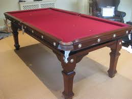 7ft dining table: ft antique riley snooker dining table traditionally french polished and re covered in cherry