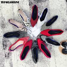 <b>TINGHON Fashion Women</b> Slip On Flat Loafers Pointed Toe ...