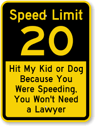 Image result for speed limit sign