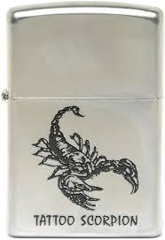 <b>Зажигалка Zippo</b> Classic <b>205 Tattoo Scorpion</b> (серебристый)