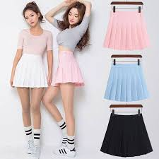 ELEXS <b>Women Fashion Summer</b> high waist <b>pleated</b> skirt Wind ...