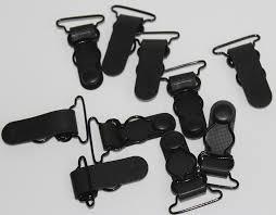 <b>Luo Qiu</b> 100 <b>pcs</b>/<b>lot</b> 25MM Plastic Black Corset Leg Garter Belt Clip ...