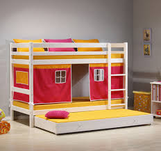 f awesome small kids bedroom design featuring grey wall paint schemes and bunk beds with trundle equipped rectangle yellow foam mattress 1024x955 awesome design kids bedroom