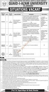quaid i azam university islamabad jobs the news jobs ads  quaid i azam university islamabad jobs the news jobs ads 19 2017