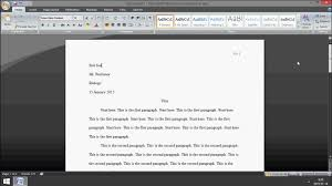 microsoft word how to set up mla format