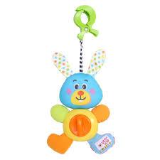 <b>BIBA TOYS Развивающая игрушка</b>-подвеска на клипсе КРОЛИК ...