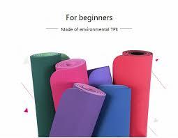 <b>6MM</b> No slip <b>Yoga Mat</b> TPE Sport Yoga Exercise Mat Fitness ...