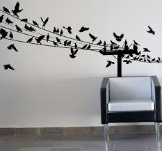 metal wall decor shop hobby: birds on a wire lounge childrens wall art sticker vinyl bedroom ebay