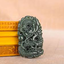 <b>yu xin yuan fine</b> jewelry pure natural hand carved qing jade dargon ...
