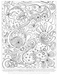 Small Picture Free Abstract Coloring Page to Print Detailed Psychedelic