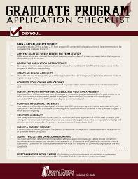 graduate school application checklist