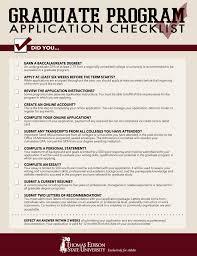 graduate school application checklist