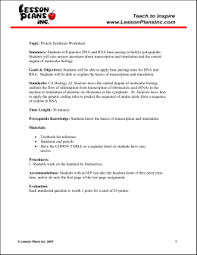 rna and protein synthesis topic protein synthesis worksheet summary students will practice