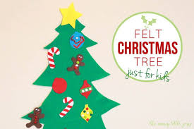 <b>Felt Christmas tree</b> for kids (with printable templates) - The Many ...