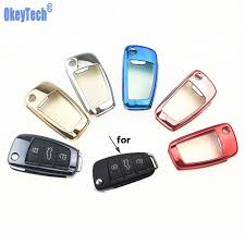 <b>OkeyTech</b> Gift <b>TPU Car Key</b> Protection Cover Case For Audi C6 A7 ...