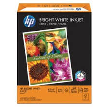 <b>HP Bright White Inkjet</b> Paper, 24lb, 97 Bright, 8 1/2 x 11, 500 Sheets ...