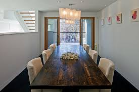size dining room contemporary counter: zinc top dining table dining room contemporary with balcony ceiling lighting dark floor dining table