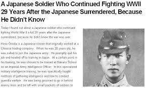 Risultati immagini per Lieutenant Hiroo Onoda