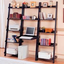 black metal framed ladder bookcase with square tower computer desk black metal computer desk