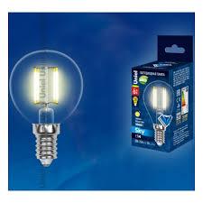 Светодиодная <b>лампа Uniel LED</b>-<b>G45</b>-6W/WW/E14/CL PLS02WH ...