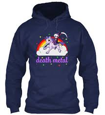 <b>Death Metal Rocker Unicorn</b> - Gildan Hoodie Sweatshirt | eBay