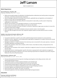 pharmacy technician resume net pharmacy technician resume example