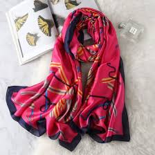 Shop <b>2019</b> spring <b>new silk scarf</b> simulation <b>silk scarf</b> female seaside ...