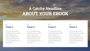 an aesthetic and engaging page template to offer a ebook a nice background image and a clear page title you can begin this page by highlighting four main topics features or benefits of your ebook