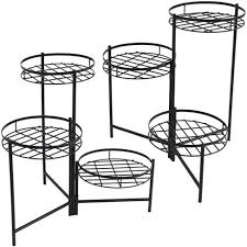 "22"" Iron Black <b>3</b>-Tiered <b>Plant Stand</b> - <b>Set</b> Of 2 - Black - Sunnydaze ..."