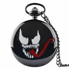 <b>Full</b> Hunter <b>Black</b> Quartz Steampunk Antique Pocket Watch Chain ...